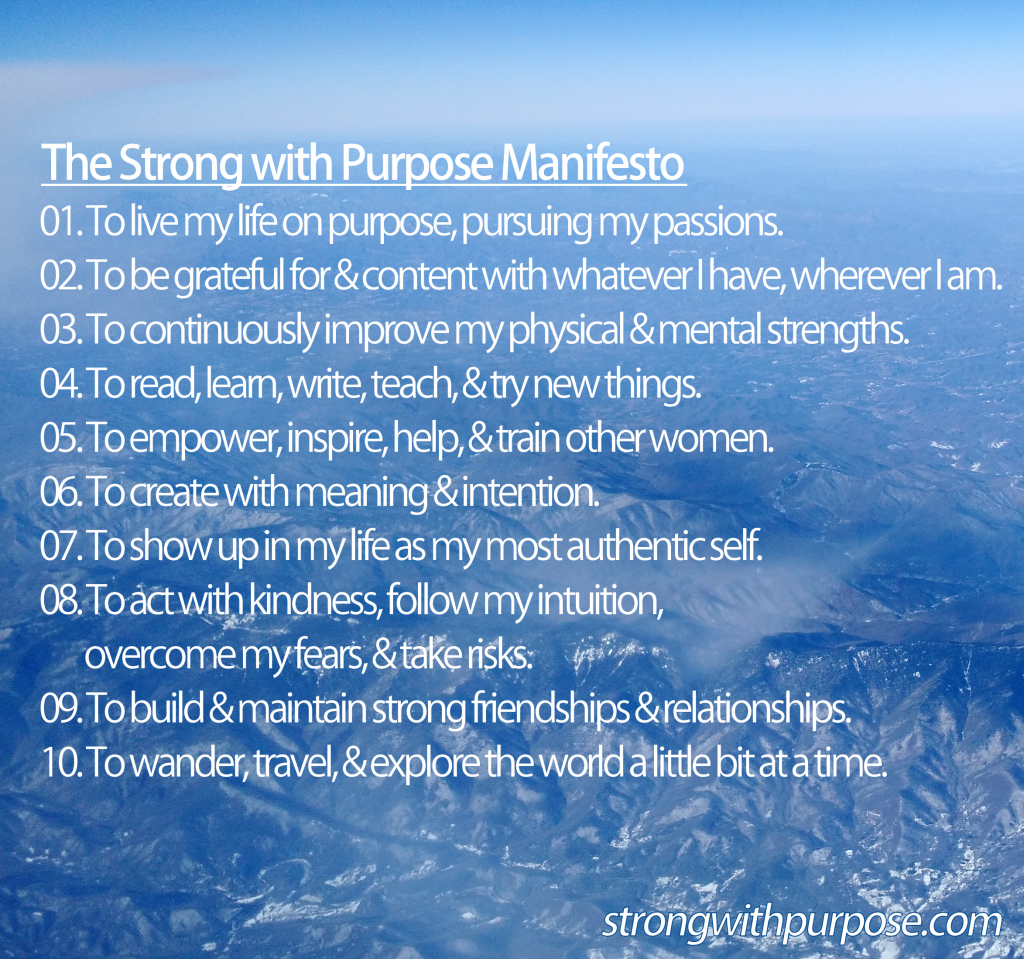 Strong with Purpose Manifesto