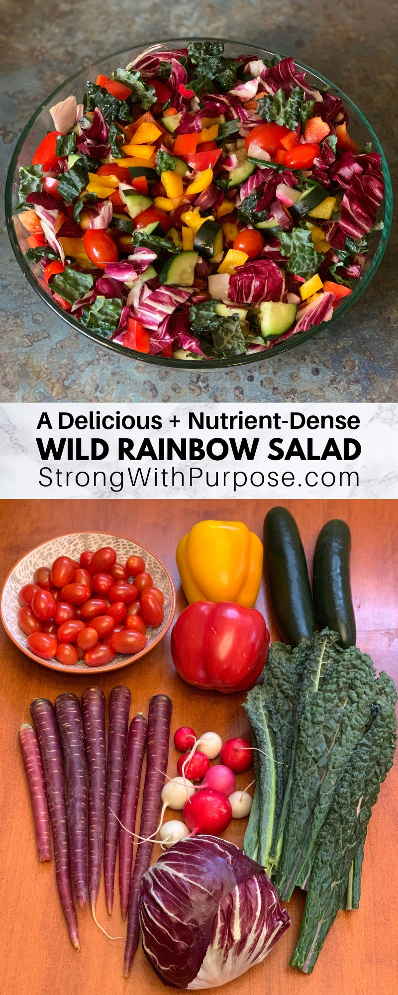 A Delicious & Nutrient-Dense Wild Rainbow Salad - Simple Recipe by Strong with Purpose