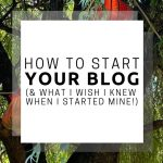How to Start Your Blog and What I Wish I Knew When I Started Mine