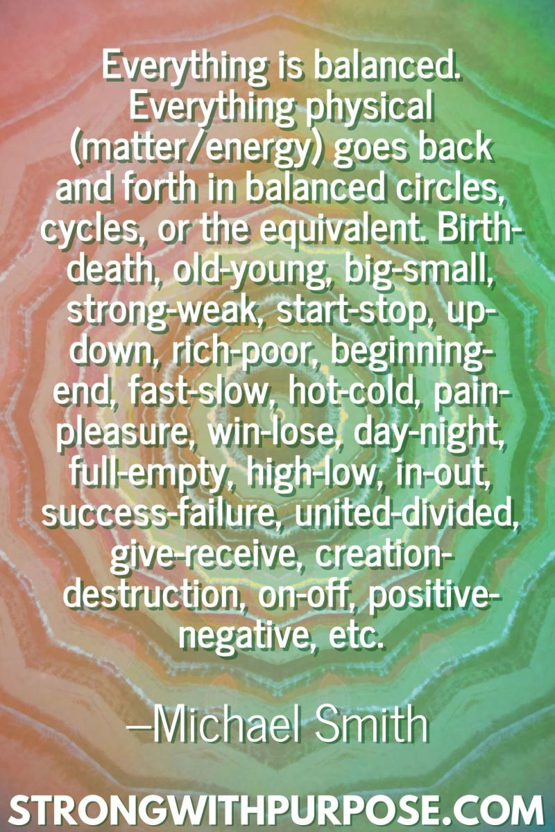 20 Inspiring Balance Quotes - Everything is balanced - Strong with Purpose