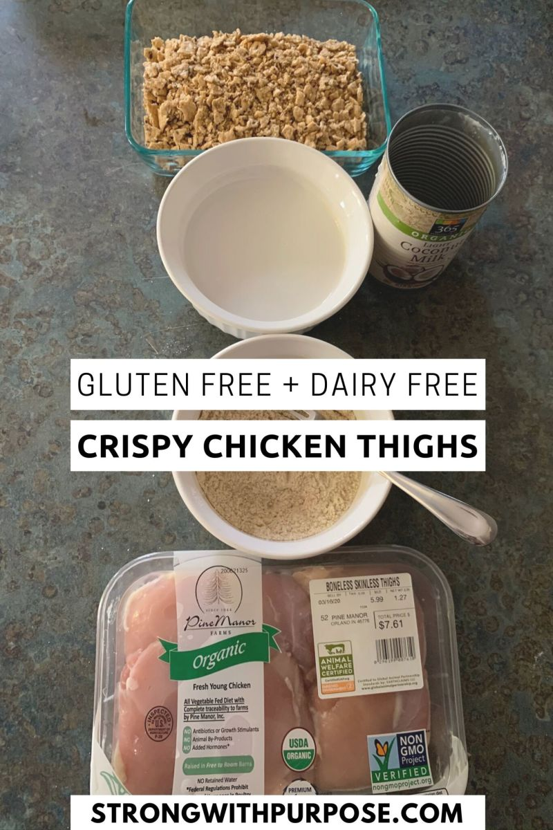 Gluten Free + Dairy Free Crispy Chicken Thighs Recipe - Strong with Purpose