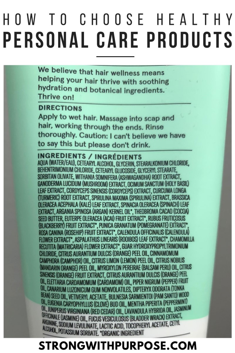 How to Choose Healthy Personal Care Products - Green Flags - Strong with Purpose