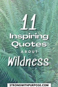 11 Inspiring Quotes about Wildness - Strong with Purpose